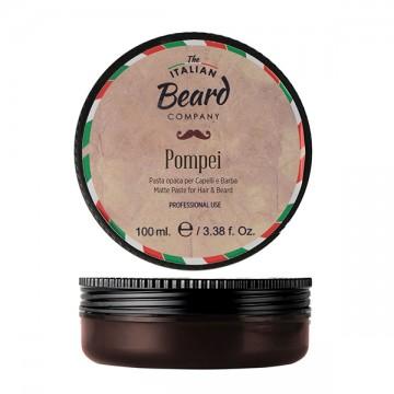 POMPEI è la pasta per capelli a tenuta forte ma flessibile e ad effetto opaco.